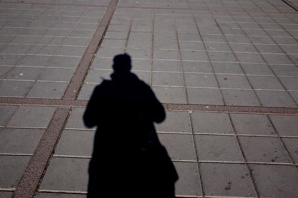 "My Shadow at ""Nationalteateret"" Subway station"