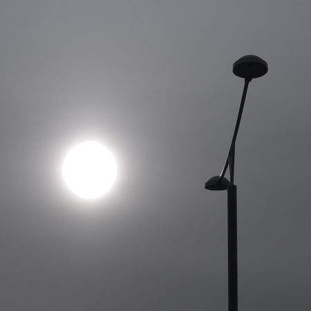 16.04.2010: Volcanic Ash Sun from Island, as Seen from Fornebu, Oslo, Norway
