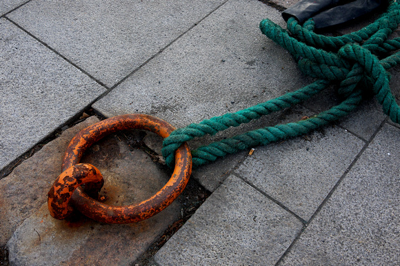 Mooring at the pier closest to Akershus Festning ( Akershus castle), by the harbor in Oslo